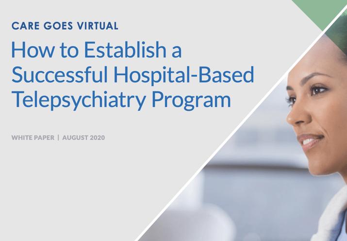 white paper hospital based telepsychiatry